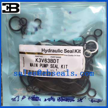 Kawasaki K3V63BDT Hydraulic Pump Seal Kit