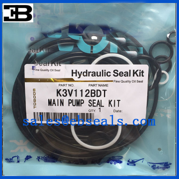 Kawasaki K3V112BDT Hydraulic Pump Seal Kit