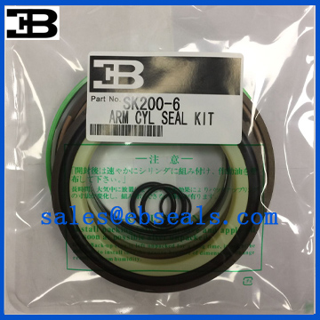 Kobelco SK200-6 Arm Cylinder Seal Kit