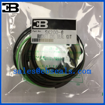 Kobelco SK200-6 Bucket Cylinder Seal Kit