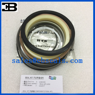 Doosan Excavator Arm Cylinder Seal Kit
